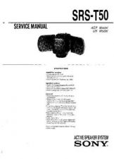 Buy Sony SRS-T502 Service Manual. by download Mauritron #244598