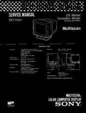 Buy Sony CPD-1604 Service Manual by download Mauritron #239261