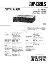 Buy Sony CDP-C5F-C5S-C57 Service Manual by download Mauritron #237298
