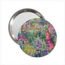 Buy Monet Garden Art Round Handbag Purse Mirror