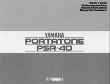 Buy Yamaha PSR40E Operating Guide by download Mauritron #249344