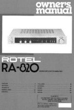 Buy ROTEL RA820 Manual by download Mauritron #230359