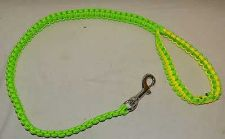 Buy new hand made in the usa paracord para cord yellow green masters dog leash 550
