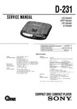Buy Sony D-190-191-191SR-192CK-193 Service Manual by download Mauritron #239407