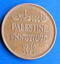 Buy Israel Palestine 2 Mils 1945 Coin XF