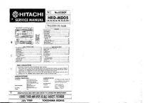 Buy Hitachi TN-521ZSW Service Manual by download Mauritron #264571