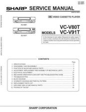 Buy Sharp VC-V59 Service Manual by download Mauritron #231540