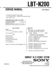 Buy Sony LBT-N200 Service Manual by download Mauritron #241780