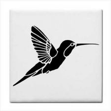 Buy Hummingbird Profile Bird Art Ceramic Tile