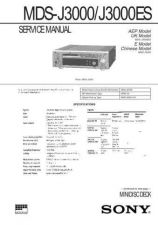 Buy Sony MDS-J3000ES Service Manual. by download Mauritron #242664