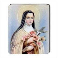 Buy Saint Therese Of Lisieux Catholic Patron Saint Computer Mouse Pad