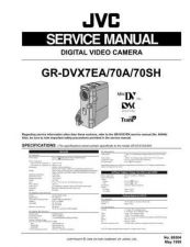 Buy JVC GR-DVX70 Service Manual Schematic Circuit. by download Mauritron #270747