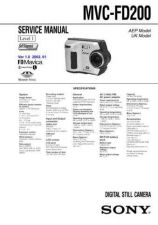 Buy Sony MVC-FD100-FD100H-FD200-FD200H-2 Service Manual. by download Mauritron #243