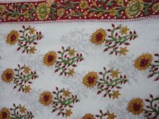 Buy 5yards Indian Hand Made 100% cotton fabric hand block printed natural fabrics