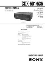 Buy Sony CDX-60X Technical Information by download Mauritron #235464