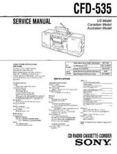 Buy Sony CFD-540 Service Manual by download Mauritron #238727