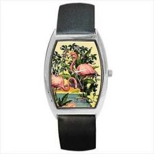 Buy Flamingo Bird Lagoon Unisex Retro Style Wrist Watch