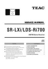 Buy Teac SR-LXi LDS-Ri700 Service Manual by download Mauritron #223937