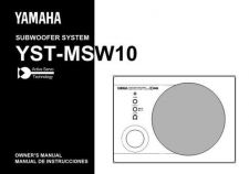 Buy Yamaha YST-MSW10 Operating Guide by download Mauritron #250408