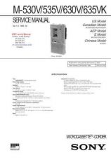 Buy SONY M530V M535V M630V M635VK Technical Info by download #104807