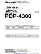 Buy Pioneer PDP-42MXE20 (2) Service Manual by download Mauritron #234878