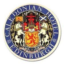 Buy Edinburgh Caledonia Hotel Crest Retro Travel Art Vinyl 5 Inch Magnet