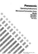 Buy Panasonic NN9507 9807 Operating Instruction Book by download Mauritron #236146