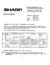 Buy SHARP TBC92003 TECHNICAL BULLETIN by download #104548