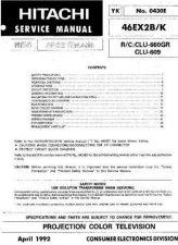 Buy Hitachi 46EX1B Service Manual by download Mauritron #262754