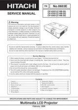 Buy Hitachi CP-X505 (EDX35N) Service Manual by download Mauritron #261130
