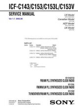 Buy Sony ICF-C143C153C153LC153V.. Service Manual. by download Mauritron #241524