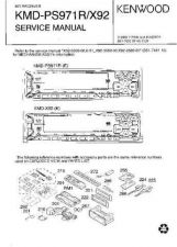 Buy KENWOOD KMD-PS971R X92 Technical Information by download #118696