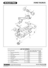 Buy Scalextrix No.340B Ford Taurus Service Sheets by download Mauritron #206445