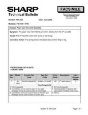 Buy SHARP FAX218 TECHNICAL BULLETIN by download #104386
