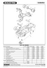 Buy Scalextrix No.352B Subaru Impreza WRC Service Sheets by download Mauritron #206