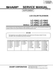 Buy Sharp LC10A2U Service Manual by download Mauritron #209754