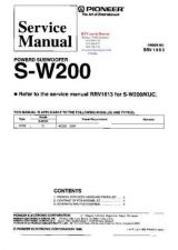 Buy PIONEER SW200 RRV1653 Technical Information by download #119364