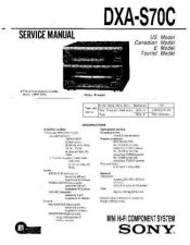 Buy Sony DXA-S70C Service Manual by download Mauritron #231959