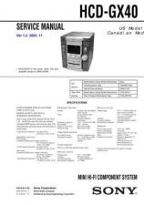 Buy Sony HCD-GX40 Service Manual by download Mauritron #241067