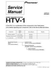 Buy Pioneer HTV-1[1] Service Manual by download Mauritron #234603