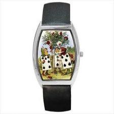 Buy Alice In Wonderland Wrist Watch Painting Roses Red Color Art