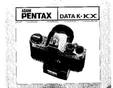 Buy PENTAX DATA K KX CAMERA INSTRUCTIONS by download #119019