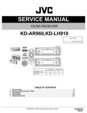 Buy JVC KD-LH910 AR-960 SERVICE MANUAL by download Mauritron #220338