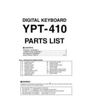 Buy Yamaha YPT-410 PCB E Information Manual by download Mauritron #260125