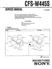 Buy Sony CFSW445S Service Manual by download Mauritron #239016