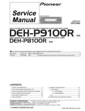 Buy Pioneer DEH-P9100R-6 Service Manual by download Mauritron #233817
