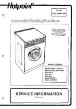 Buy HOTPOINT 9555 WASHER SERVICE MANUAL by download #108744