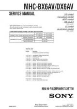 Buy Sony MHC-BX7-DX7-DX7J Service Manual. by download Mauritron #242830