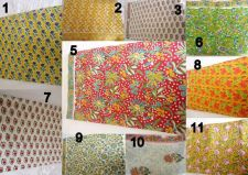 Buy 25yards wholesale lot Indian Hand Made cotton fabric hand block print fabric lot