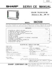 Buy Sharp 36C530 Service Manual by download Mauritron #207765